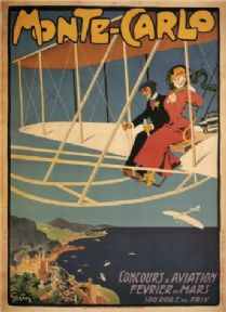 Monte Carlo aviation competition poster 1909